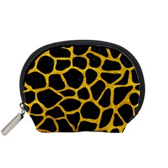 Skin1 Black Marble & Yellow Marble (r) Accessory Pouch (small) by trendistuff