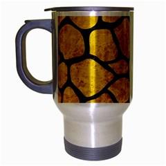 Skin1 Black Marble & Yellow Marble Travel Mug (silver Gray) by trendistuff