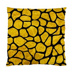 Skin1 Black Marble & Yellow Marble Standard Cushion Case (two Sides) by trendistuff