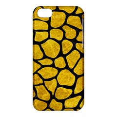 Skin1 Black Marble & Yellow Marble Apple Iphone 5c Hardshell Case by trendistuff
