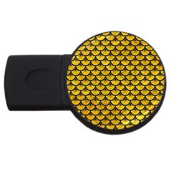 Scales3 Black Marble & Yellow Marble (r) Usb Flash Drive Round (4 Gb) by trendistuff