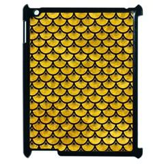 Scales3 Black Marble & Yellow Marble (r) Apple Ipad 2 Case (black) by trendistuff