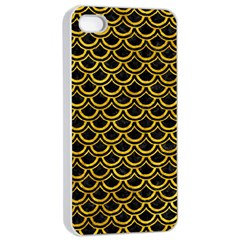Scales2 Black Marble & Yellow Marble Apple Iphone 4/4s Seamless Case (white)