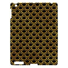 Scales2 Black Marble & Yellow Marble Apple Ipad 3/4 Hardshell Case by trendistuff