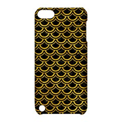 Scales2 Black Marble & Yellow Marble Apple Ipod Touch 5 Hardshell Case With Stand