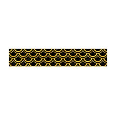 Scales2 Black Marble & Yellow Marble Flano Scarf (mini) by trendistuff