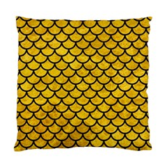 Scales1 Black Marble & Yellow Marble (r) Standard Cushion Case (one Side) by trendistuff