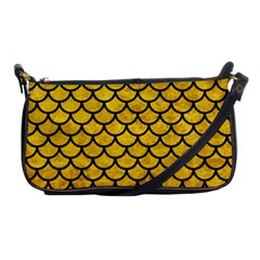 Scales1 Black Marble & Yellow Marble (r) Shoulder Clutch Bag by trendistuff