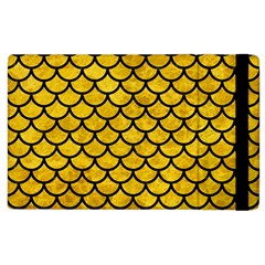Scales1 Black Marble & Yellow Marble (r) Apple Ipad 2 Flip Case by trendistuff
