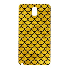 Scales1 Black Marble & Yellow Marble (r) Samsung Galaxy Note 3 N9005 Hardshell Back Case by trendistuff