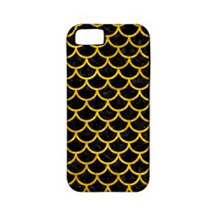 Scales1 Black Marble & Yellow Marble Apple Iphone 5 Classic Hardshell Case (pc+silicone) by trendistuff
