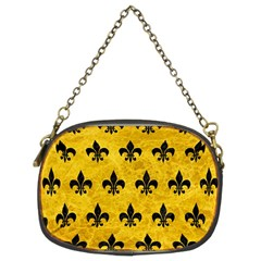 Royal1 Black Marble & Yellow Marble Chain Purse (two Sides) by trendistuff
