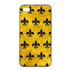 Royal1 Black Marble & Yellow Marble Apple Iphone 4/4s Seamless Case (black) by trendistuff