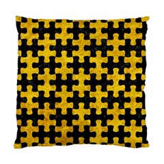 Puzzle1 Black Marble & Yellow Marble Standard Cushion Case (two Sides) by trendistuff