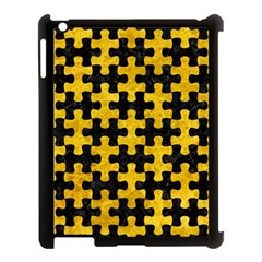 Puzzle1 Black Marble & Yellow Marble Apple Ipad 3/4 Case (black) by trendistuff
