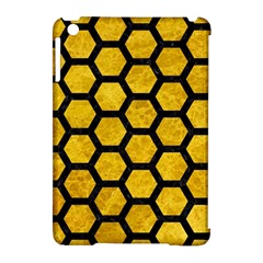Hexagon2 Black Marble & Yellow Marble (r) Apple Ipad Mini Hardshell Case (compatible With Smart Cover) by trendistuff