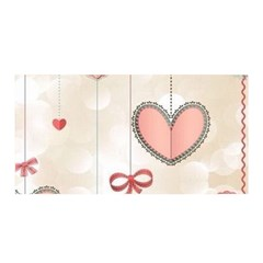 Cute Hearts Satin Wrap by Brittlevirginclothing