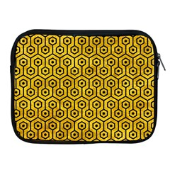 Hexagon1 Black Marble & Yellow Marble (r) Apple Ipad Zipper Case by trendistuff
