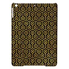 Hexagon1 Black Marble & Yellow Marble Apple Ipad Air Hardshell Case by trendistuff