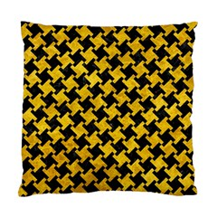 Houndstooth2 Black Marble & Yellow Marble Standard Cushion Case (one Side) by trendistuff