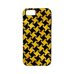 Houndstooth2 Black Marble & Yellow Marble Apple Iphone 5 Classic Hardshell Case (pc+silicone) by trendistuff