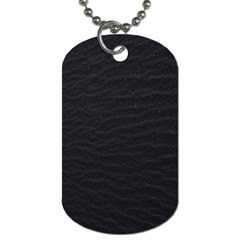 Black Pattern Sand Surface Texture Dog Tag (one Side) by Amaryn4rt