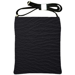 Black Pattern Sand Surface Texture Shoulder Sling Bags