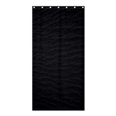 Black Pattern Sand Surface Texture Shower Curtain 36  X 72  (stall)  by Amaryn4rt