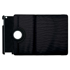 Black Pattern Sand Surface Texture Apple Ipad 2 Flip 360 Case by Amaryn4rt
