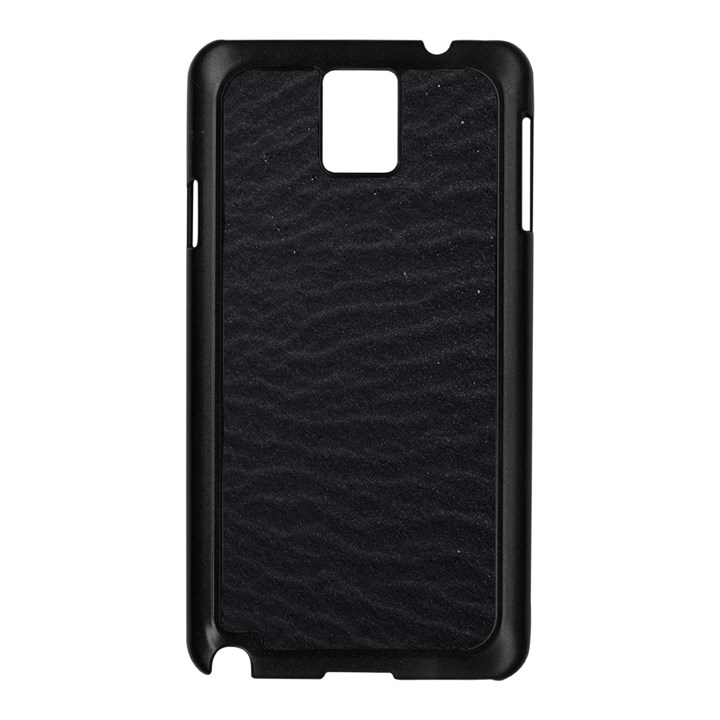 Black Pattern Sand Surface Texture Samsung Galaxy Note 3 N9005 Case (Black)