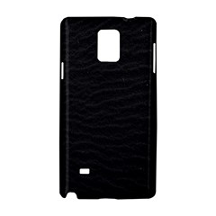 Black Pattern Sand Surface Texture Samsung Galaxy Note 4 Hardshell Case by Amaryn4rt