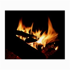 Bonfire Wood Night Hot Flame Heat Small Glasses Cloth (2 Side) by Amaryn4rt