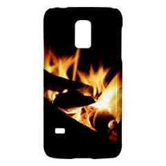Bonfire Wood Night Hot Flame Heat Galaxy S5 Mini by Amaryn4rt