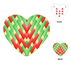 Christmas Geometric 3d Design Playing Cards (heart)  by Amaryn4rt