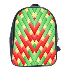 Christmas Geometric 3d Design School Bags(large)  by Amaryn4rt