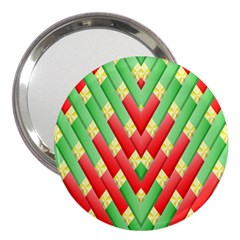 Christmas Geometric 3d Design 3  Handbag Mirrors by Amaryn4rt