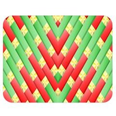 Christmas Geometric 3d Design Double Sided Flano Blanket (medium)  by Amaryn4rt