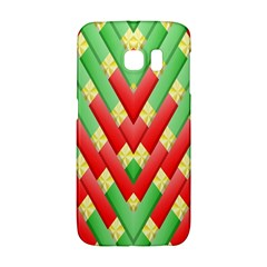 Christmas Geometric 3d Design Galaxy S6 Edge by Amaryn4rt