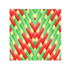 Christmas Geometric 3d Design Small Satin Scarf (square) by Amaryn4rt
