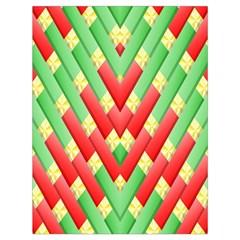 Christmas Geometric 3d Design Drawstring Bag (large) by Amaryn4rt