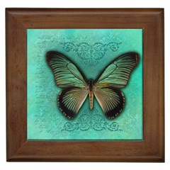 Butterfly Background Vintage Old Grunge Framed Tiles by Amaryn4rt