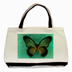 Butterfly Background Vintage Old Grunge Basic Tote Bag (two Sides) by Amaryn4rt