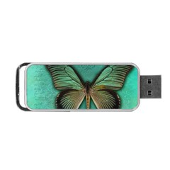 Butterfly Background Vintage Old Grunge Portable Usb Flash (one Side) by Amaryn4rt