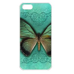 Butterfly Background Vintage Old Grunge Apple Iphone 5 Seamless Case (white)