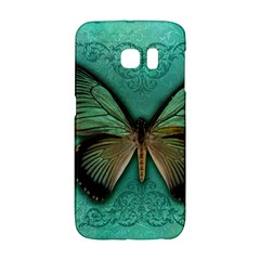 Butterfly Background Vintage Old Grunge Galaxy S6 Edge