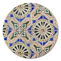 Ceramic Portugal Tiles Wall Magnet 5  (round) by Amaryn4rt