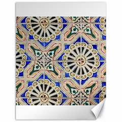 Ceramic Portugal Tiles Wall Canvas 18  x 24   by Amaryn4rt