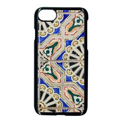 Ceramic Portugal Tiles Wall Apple Iphone 7 Seamless Case (black) by Amaryn4rt