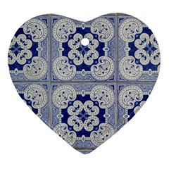 Ceramic Portugal Tiles Wall Heart Ornament (two Sides) by Amaryn4rt