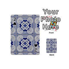 Ceramic Portugal Tiles Wall Playing Cards 54 (mini)  by Amaryn4rt